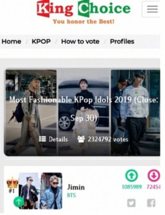 BTS Jimin, Most Fashionable K-Pop Idol Fan Vote # 1!