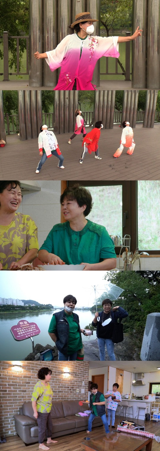 Lee Gyeong-ae visits Park Won-sook's house again after two years... Hye-eun falls in love with Taijiquan,'Let's live with Park Won-sook'