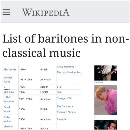 ¡El primer artista de barítono no clásico de K-pop llamado BTS!
